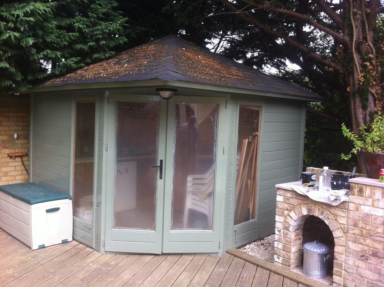 painted summerhouse