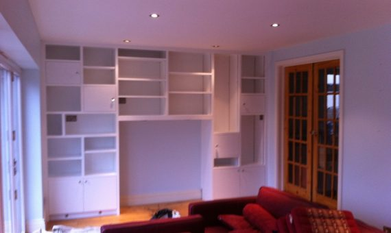 Painted Interior Shelves